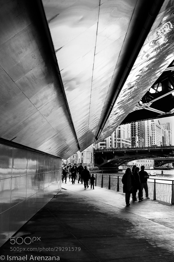 Under a bridge in Chicago by Ismael Arenzana (iarenzana)) on 500px.com